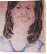 First Lady Wood Print by Beverly Howell
