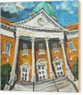 First United Methodist Church Athens Al Wood Print by Carole Foret