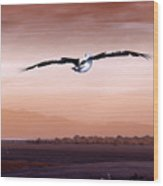 Flight Wood Print by Holly Kempe