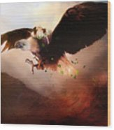 Flight Of The Eagle Wood Print by Mary Hood