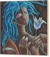 Flor Y Viento Wood Print by Oscar Ortiz