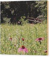 Floral Bridge Wood Print by Jame Hayes