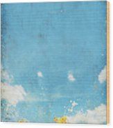Floral In Blue Sky And Cloud Wood Print by Setsiri Silapasuwanchai