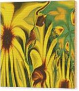 Flower Fun Wood Print by Linda Sannuti