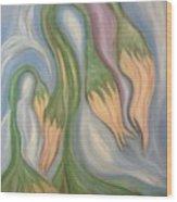 Flowing Onions Wood Print by Michelle  Thomann-Ramirez