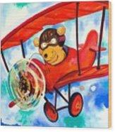 Flying Bear Wood Print by Scott Nelson