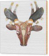 Footloose Moose Wood Print by Michael Jude Russo