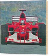 Formula 1 Wood Print by Ken Pursley