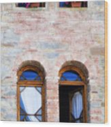 Four Windows Wood Print by Marilyn Hunt