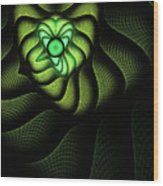 Fractal Cobra Wood Print by John Edwards