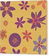 Fragrant Folly Orange Wood Print by Ruth Palmer