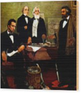Frederick Douglass Appealing To President Lincoln Wood Print by War Is Hell Store