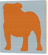 French Bulldog Orange Wood Print by Naxart Studio