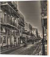 French Quarter Ride Wood Print by Greg and Chrystal Mimbs