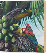 Friends Of A Feather Wood Print by Karin  Dawn Kelshall- Best