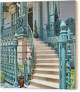 Front Steps To John Rutledge Home Wood Print by Steven Ainsworth
