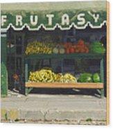 Frutas Y Wood Print by Michael Ward