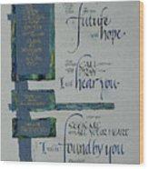 Future Hope II Wood Print by Judy Dodds