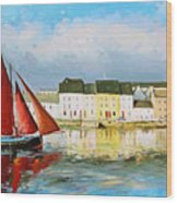Galway Hooker Leaving Port Wood Print by Conor McGuire