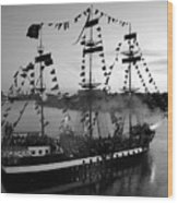 Gang Of Pirates Wood Print by David Lee Thompson