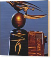 Gargoyle Hood Ornament 3 Wood Print by Jill Reger