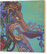 Gargoyle Lion Wood Print by Genevieve Esson