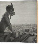 Gargoyle Of Notre Dame Wood Print by Zeb Andrews