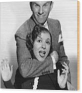 George Burns And Gracie Allen, 1936 Wood Print by Everett