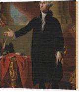 George Washington Lansdowne Portrait Wood Print by War Is Hell Store