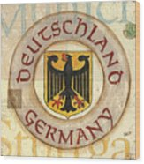 German Coat Of Arms Wood Print by Debbie DeWitt
