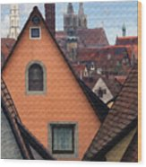German Rooftops Wood Print by Sharon Foster
