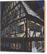Germany Ulm Fischer Viertel Schwor-haus Wood Print by Yuriy  Shevchuk