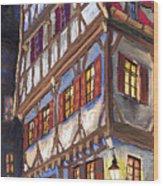 Germany Ulm Old Street Wood Print by Yuriy  Shevchuk