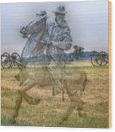 Ghost Of Gettysburg Wood Print by Randy Steele