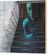 Ghost Of Pain - Self Portrait Wood Print by Jaeda DeWalt