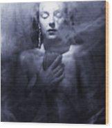 Ghost Woman Wood Print by Scott Sawyer