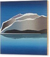 Glaciers Wood Print by Jarle Rosseland