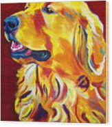 Golden - Scout Wood Print by Alicia VanNoy Call