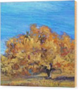 Golden Tree Wood Print by Susan Jenkins