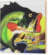 Gone Fishing Wood Print by Linda Simon