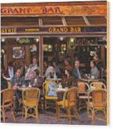 Grand Bar Wood Print by Guido Borelli
