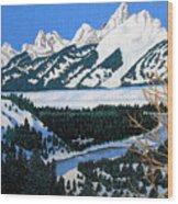 Grand Teton Wood Print by Frederic Kohli
