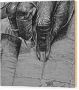 Grandma's Hands Wood Print by Curtis James