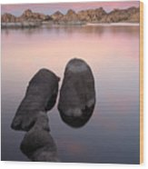 Granite Dells Twilight Wood Print by Eric Foltz