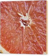 Grapefruit Half Wood Print by Ray Laskowitz - Printscapes