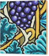 Grapes Wood Print by Genevieve Esson
