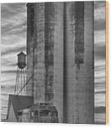 Great Western Sugar Mill Longmont Colorado Bw Wood Print by James BO  Insogna