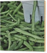 Green Beans Wood Print by William Jones