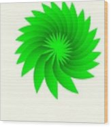 Green Flower Wood Print by Michael Skinner