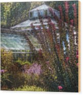 Greenhouse - The Greenhouse Wood Print by Mike Savad